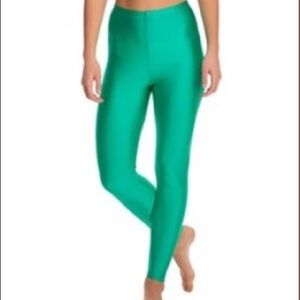 American Apparel Shiny Green Leggings